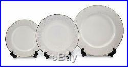 Royalty Porcelain Innocence 20-pc White & Gold Dinnerware Set, 24K Bone China