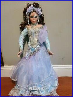 Rustie Porcelain Doll ARIELLE 1999 Limited GORGEOUS of 3892/5000 signature gold