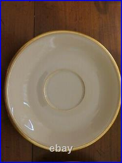 Set of 12 Lenox China Tea Coffee Cups saucers Eternal collection 86 Gold Trim