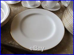 Spode Classic White Bone China withGold Trim China Dinnerware Dish Service 75 Pc