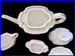 Spode Corinth Gold Bone China 4-Cup Teapot, Creamer & Covered Sugar Bowl Y8013
