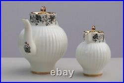 Tea set 6/22 pcs SLENDER TWIGS, bone china, 22K-gold, Lomonosov Porcelain