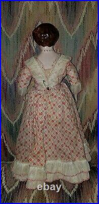 VINTAGE RUTH GIBBS 12 GODEY'S LADY LITTLE WOMEN CHINA DOLL gold shoes