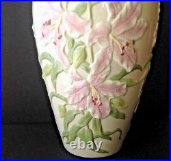 VTG LENOX 18 Tall English Lily Porcelain Vase withGold Trim Ltd edition of 500