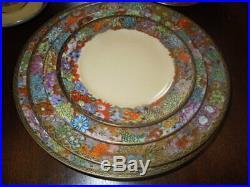 Vintage Bone China, Dinner Ware, Japanese, 110 pieces, Flower & gold decoration