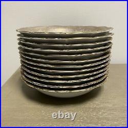 Vintage Eberthal Bavaria China Soup Bowl Set Of 12 (West Germany)