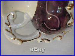 Vintage Genuine Empress China Hand Decorated 22K Gold Porcelain Table Lamp