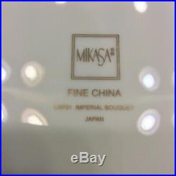 Vntg. Set of Fine China 74 Piece Service for 14 -1 Cup IMPERIAL BOUQUET Gold Rim